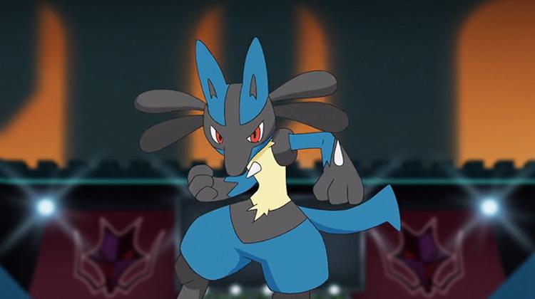 Lucario (Steel/Fighting) in the Pokémon anime