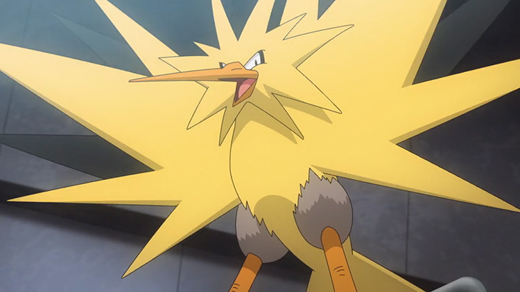 Zapdos (Electric/Flying) Pokémon in the anime