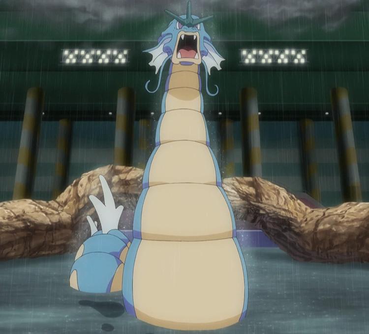 Gyarados (Water/Flying) Pokémon anime screenshot
