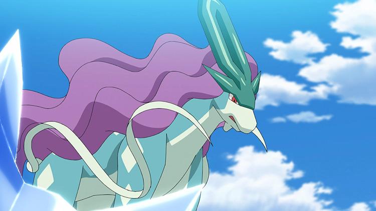Suicune Pokemon anime screenshot