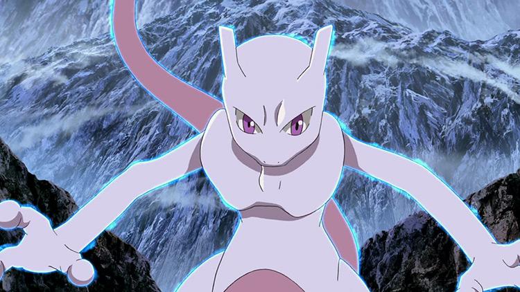 Mewtwo Pokemon anime screenshot