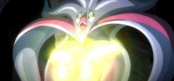 Malamar glowing in Pokémon anime