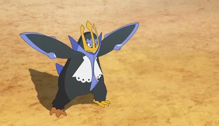 Empoleon Pokemon in the anime