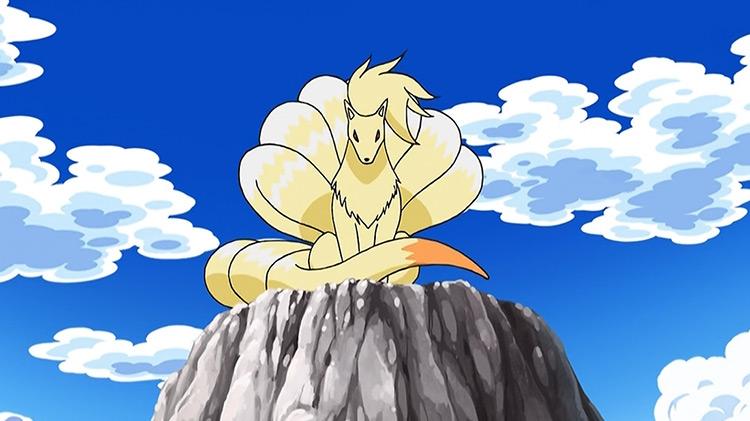 Ninetales Pokemon anime screenshot