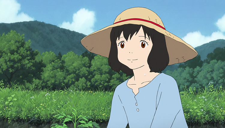 Hana in Wolf Children anime