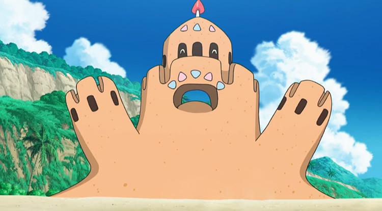Palossand Pokemon anime screenshot