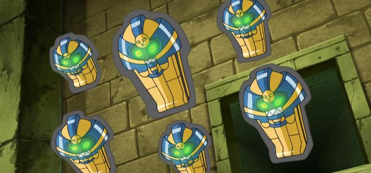 Cofagrigus Pokemon anime screenshot