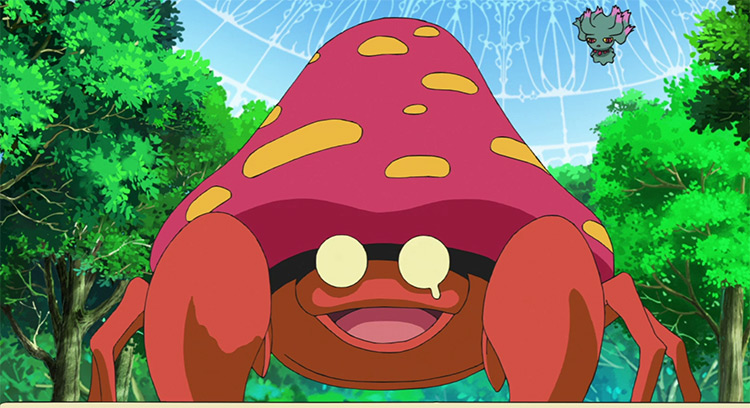 Parasect Pokemon in the anime