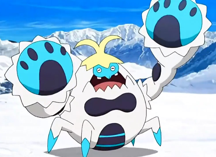 Crabominable Pokemon in the anime