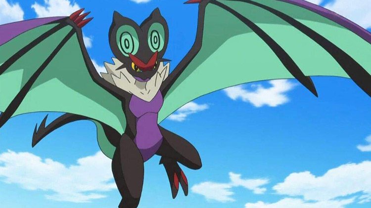 Noivern in Pokemon anime