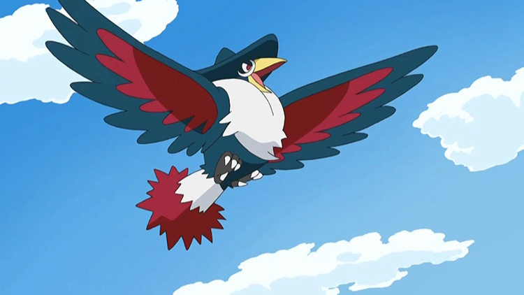 Honchkrow in Pokemon anime
