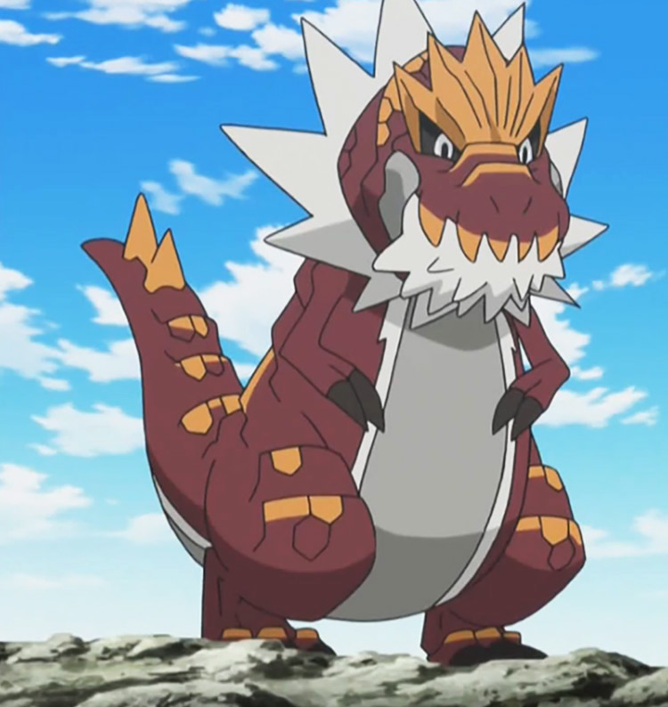 Tyrantrum Pokemon in the anime