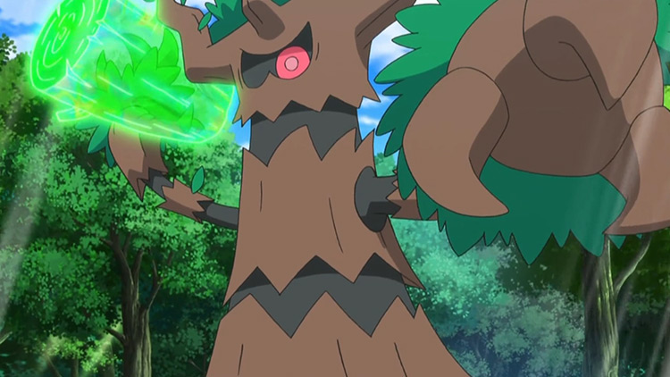 Trevenant Pokemon anime screenshot