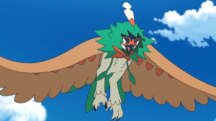 Decidueye in Pokemon anime