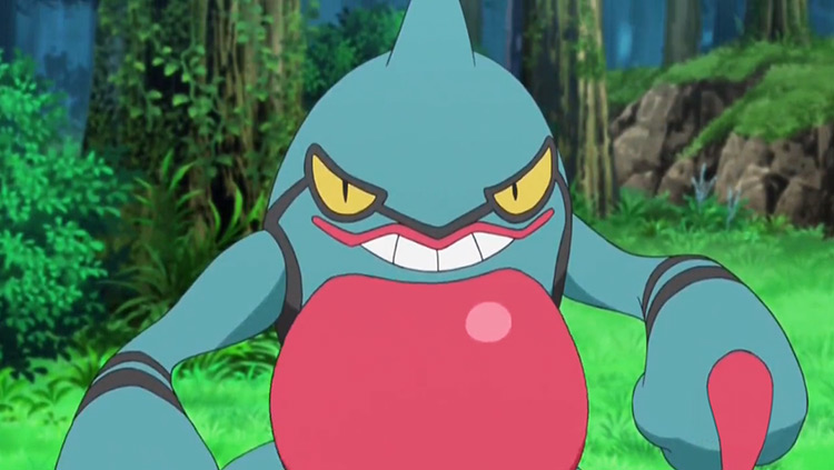 Toxicroak Pokemon anime screenshot