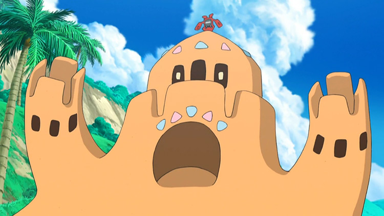 Palossand in Pokemon anime