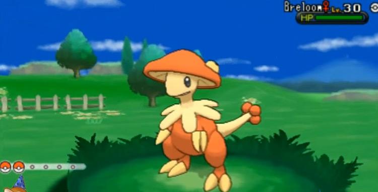 Shiny Breloom in Pokémon X and Y