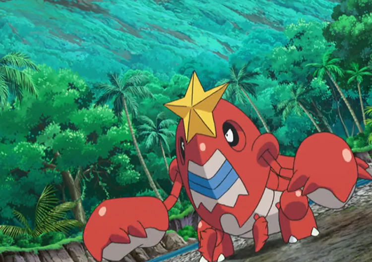 Crawdaunt Pokémon in the anime