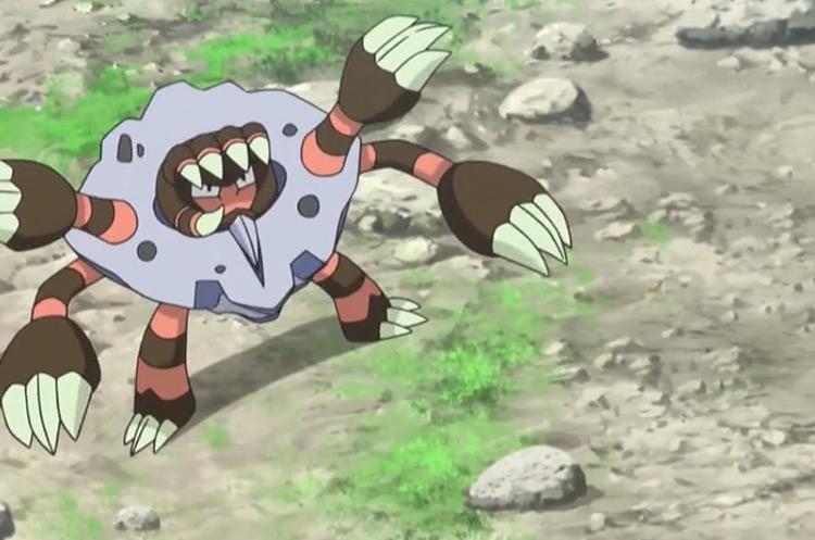 Barbaracle in the Pokémon anime