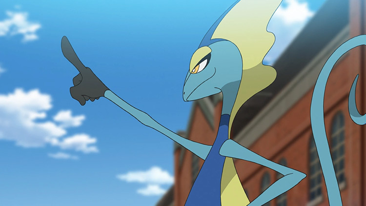 Inteleon Pokémon anime screenshot