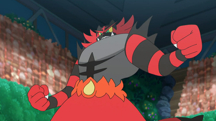 Incineroar - Parting Shot from Pokémon anime