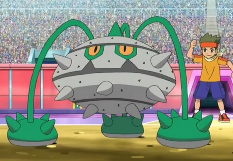 Ferrothorn - Leech Seed in the Pokémon anime