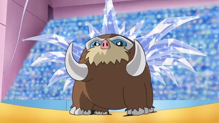 Mamoswine - Icicle Crash from Pokémon anime