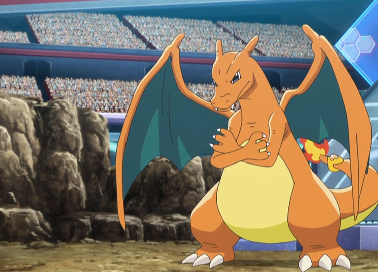 Charizard - Belly Drum in the Pokémon anime