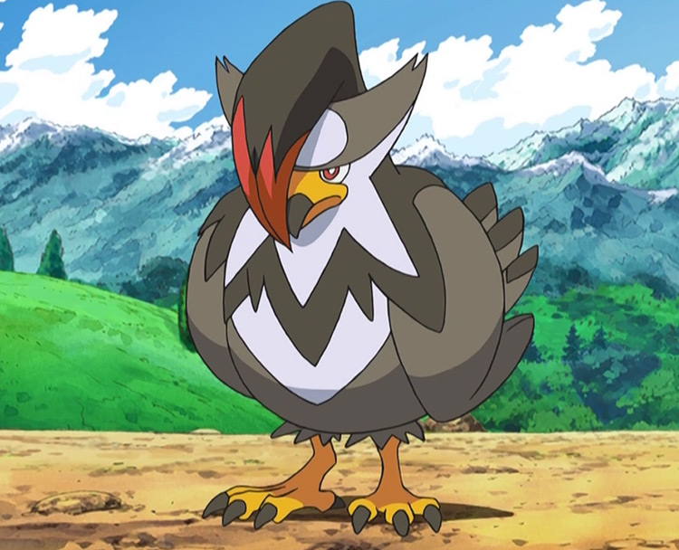 Staraptor - Double Edge in the Pokémon anime