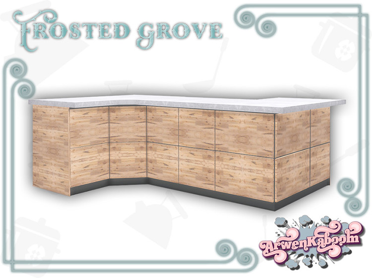 Frosted Grove Counter Island for Sims 4