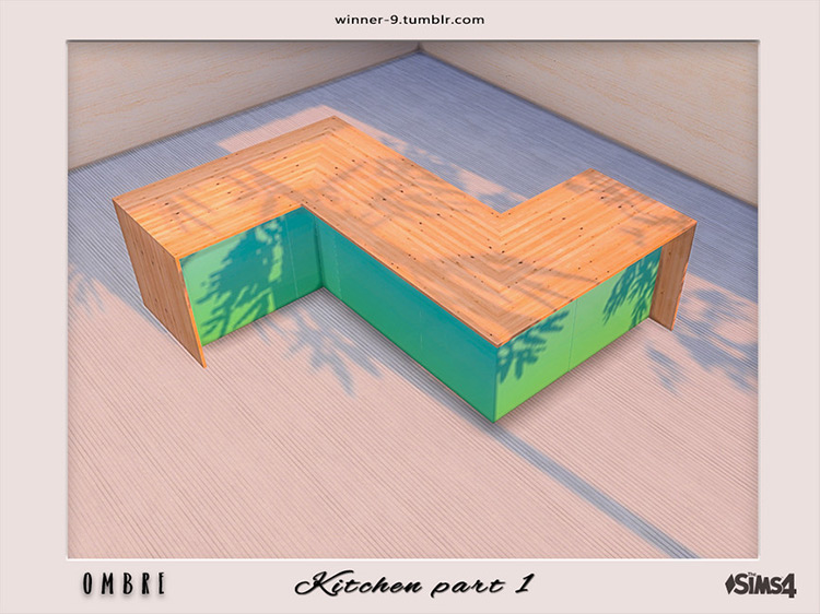 Ombre Counter Island for Sims 4