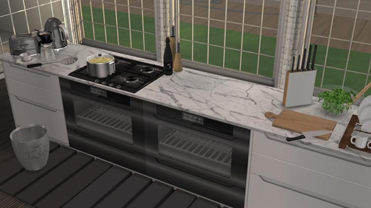 Series 1 Kitchen Island Sims 4 CC