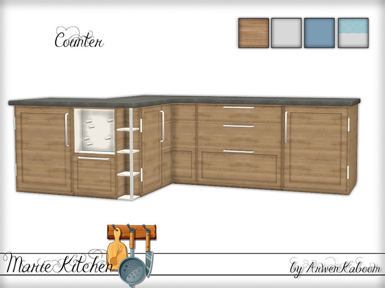 Marie Kitchen Counter for Sims 4