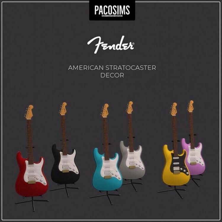 Fender American Stratocaster Sims 4 CC