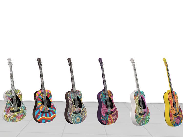 Vintage Guitar Sims 4 CC
