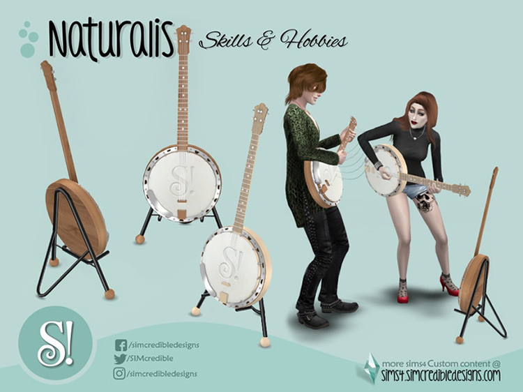 Tenor Banjo Sims 4 CC screenshot