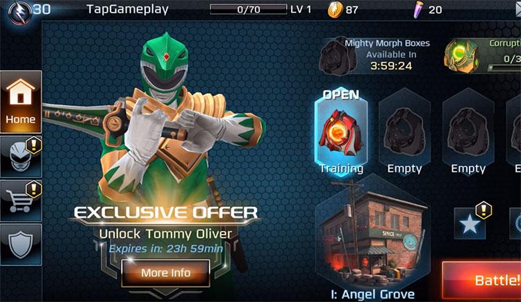 Power Rangers: Legacy Wars gameplay screen