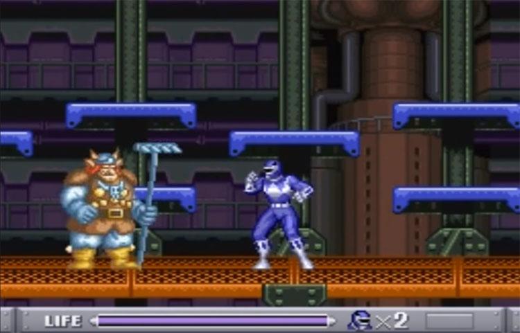 Mighty Morphin Power Rangers SNES game screenshot