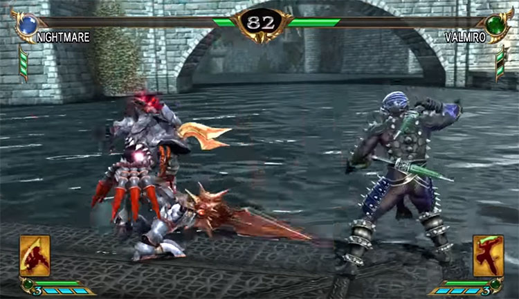 Soulcalibur IV gameplay screen