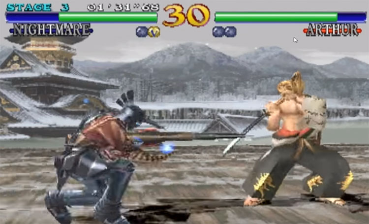 Soulcalibur 1998 gameplay screenshot