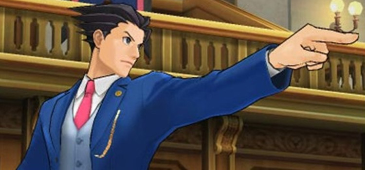 Ace Attorney Phoenix Write Objection pose