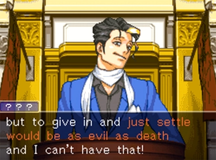 Phoenix Wright Justice for All screenshot