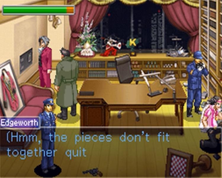Miles Edgeworth Ace Attorney game