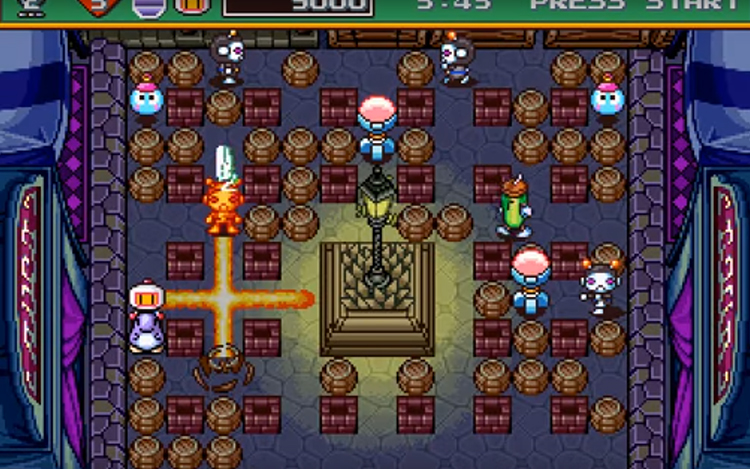 Saturn Bomberman (1997) Gameplay