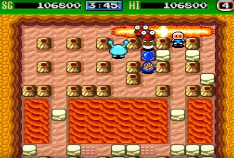 Bomberman '93 (1993) Gameplay