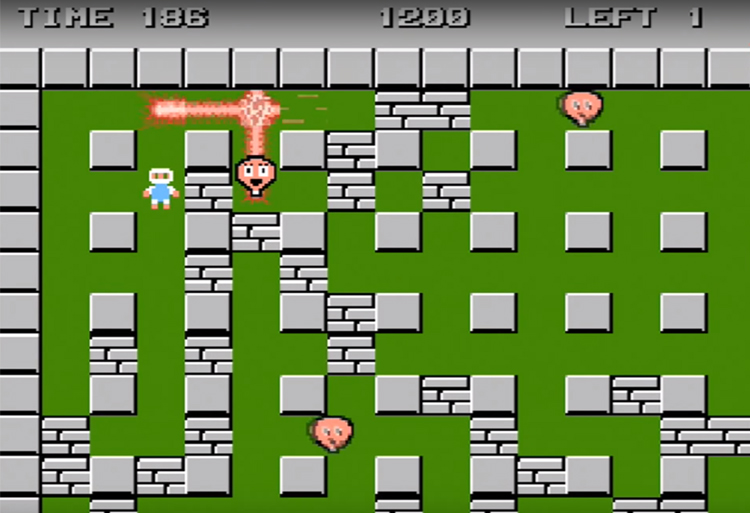 Bomberman (1985) Gameplay