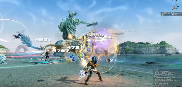 Phantasy Star Online 2 (2012/2020) Level 80 Gameplay