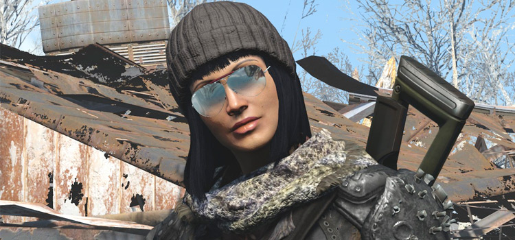Fallout 4 girl modded armor character
