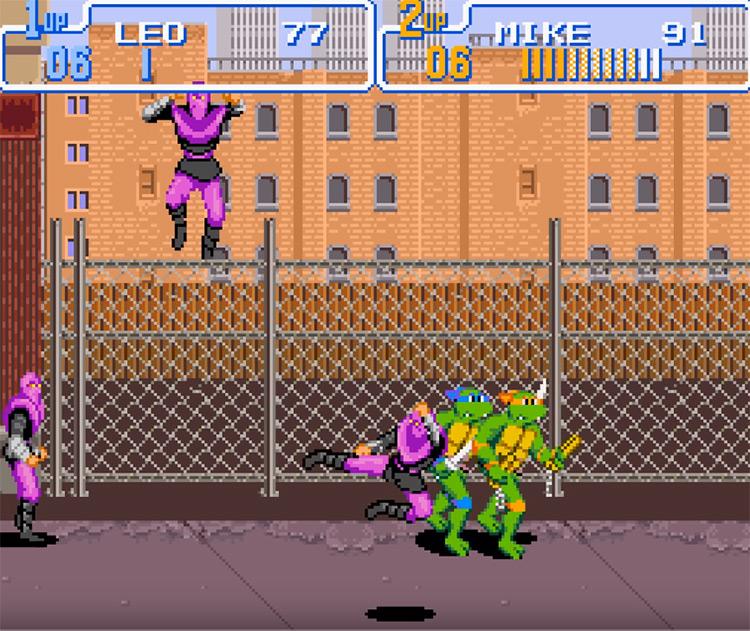 Teenage Mutant Ninja Turtles: Turtles in Time SNES