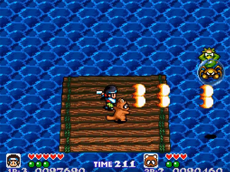 Pocky and Rocky screenshot
